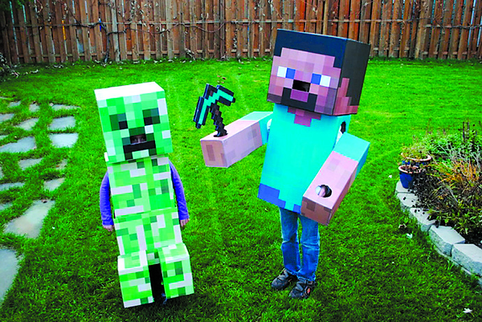 Easy kids halloween costumes valley parent magazine for Minecraft crafts for kids