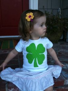 girl with 4leaf clover