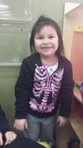 "Aubrey, age 4 ""I love to play with a bouncy ball with my friends."""